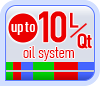 Up to 10L/Qt oil system