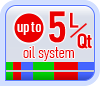 Up to 5L/Qt oil system