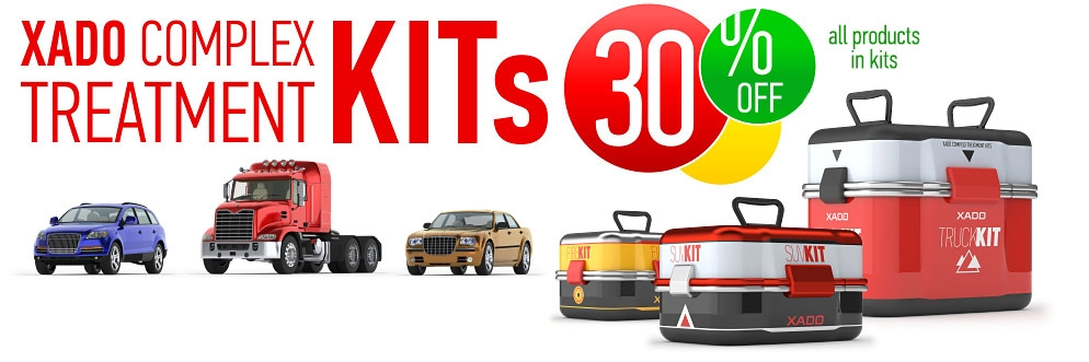 Kits for complex treatment of automobiles, SUV's, trucks, motorcycles, bicycles