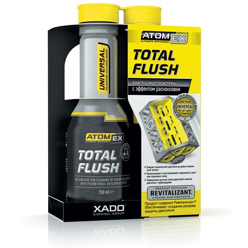 XADO Technology. Atomex Total Flush engine treatment