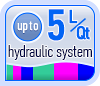 Up to 5L/Qt hydraulic system