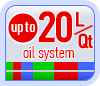 Up to 20L/Qt oil system