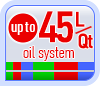 Up to 45L/Qt oil system